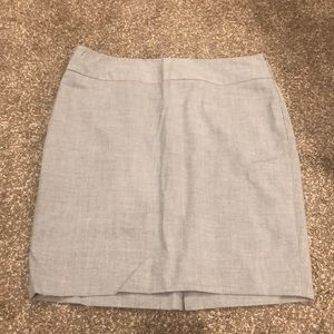 The Limited Light Gray Pencil Skirt